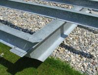 Terrassen Deck Unterkonstruktion Feuerverzinkte Stahl Konstruktion